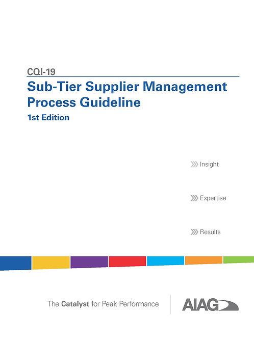 CQI-19 Sub-Tier Supplier Management Process Guideline