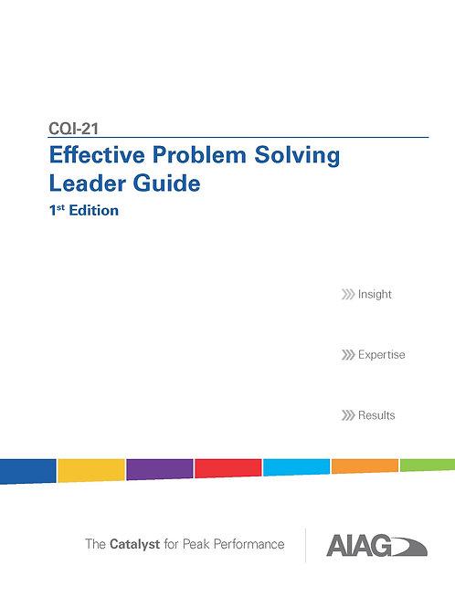 CQI-21 Effective Problem Solving Leader Guide