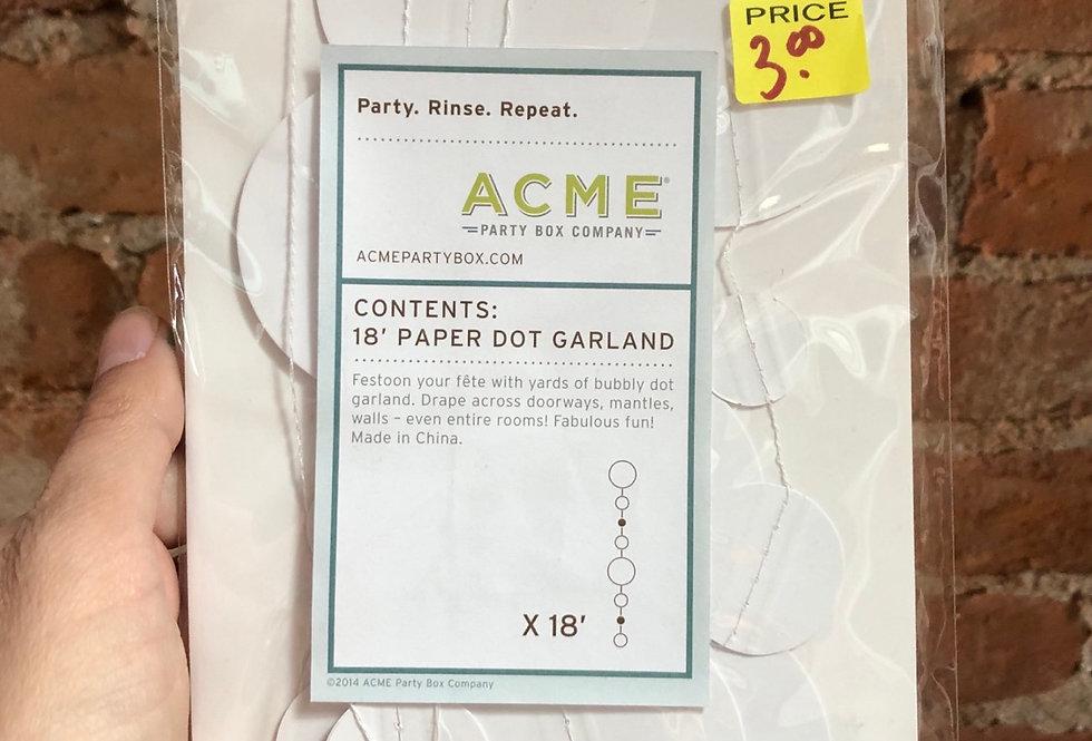 Acme Paper Dot Garland