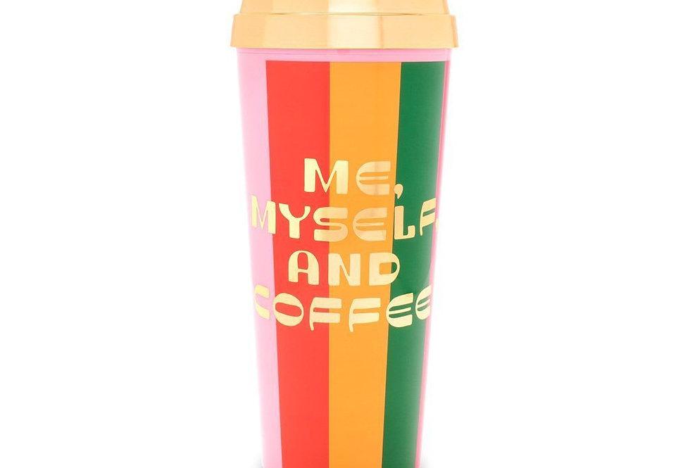Bando Me Myself and Coffee thermal travel mug