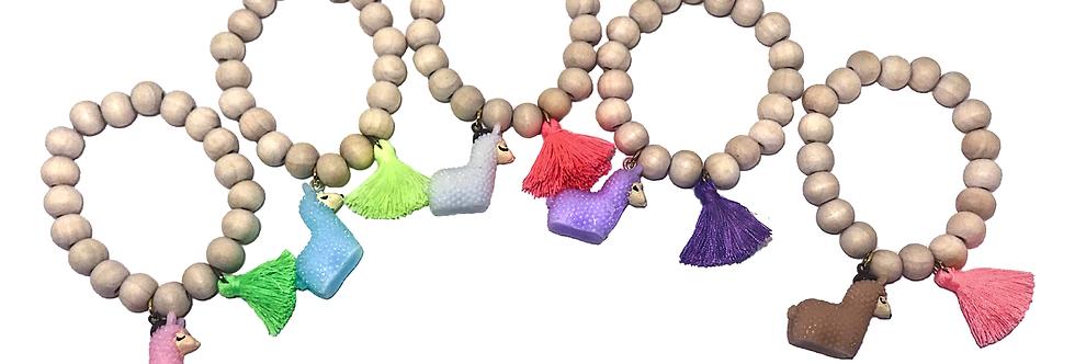 Bottleblond Llama bracelet