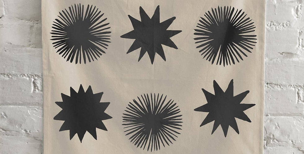 The Rise And Fall Starburst Towel - Natural