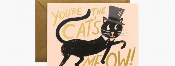 Rifle Paper Co Cat's Meow card