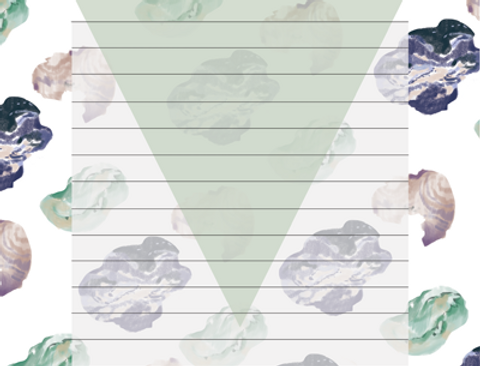 Ferme A Papier Agate Triangle Notepad