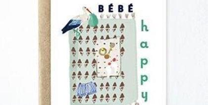 Ferme A Papier Happy Bebe card
