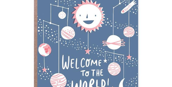 Hello Lucky Welcome To The World card