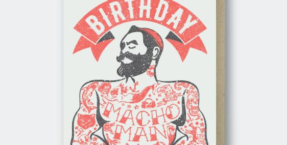 Pike Street Press Happy Birthday Macho Man
