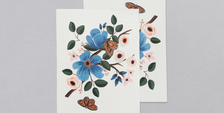 Tattly monarch floral temporary tattoos
