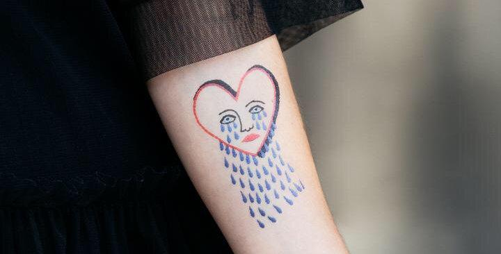 Tattly Stitched Heart temporary tattoo