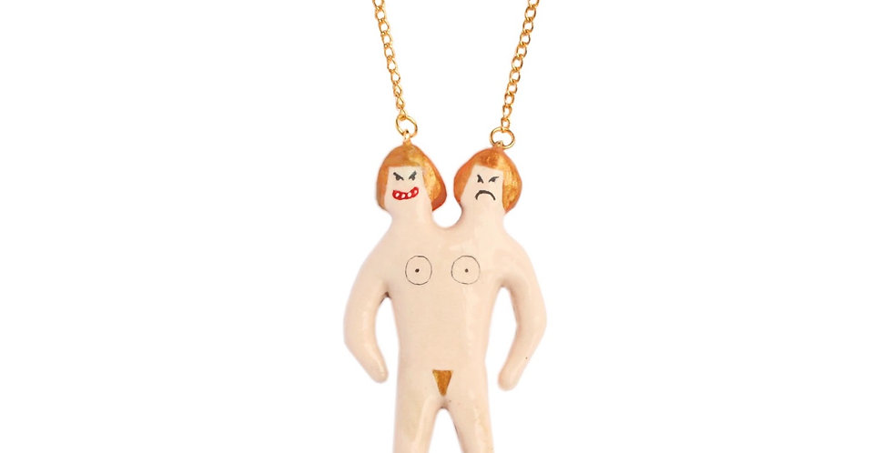 OMG Jewels Siamese Doll Necklace