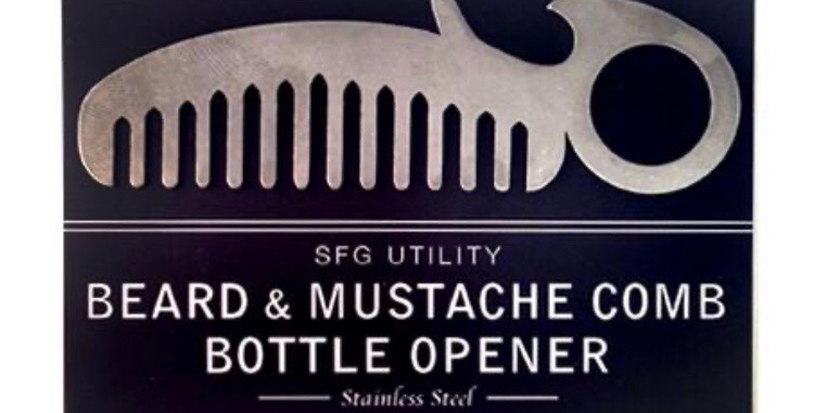 Spitfire Girl Beard and Mustache Comb and Bottle Opener