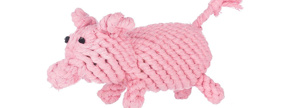Jax & Bones Penny the Pig small rope toy