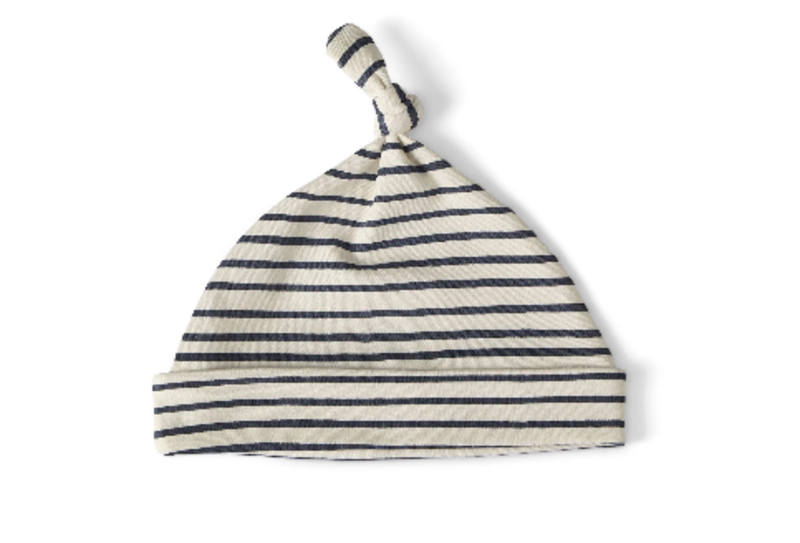 Pehr stripe knotted hat
