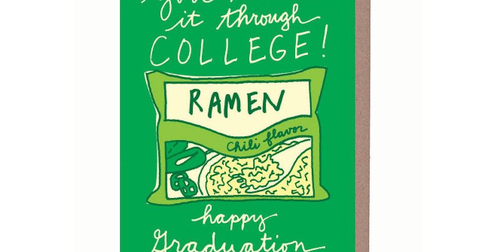 La Familia Green Ramen Graduation card