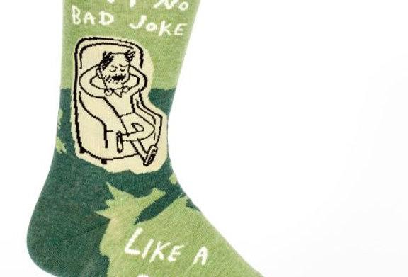 Blue Q Dad Jokes Mens Socks