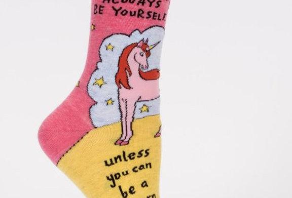 Blue Q Always Be a unicorn womens sock