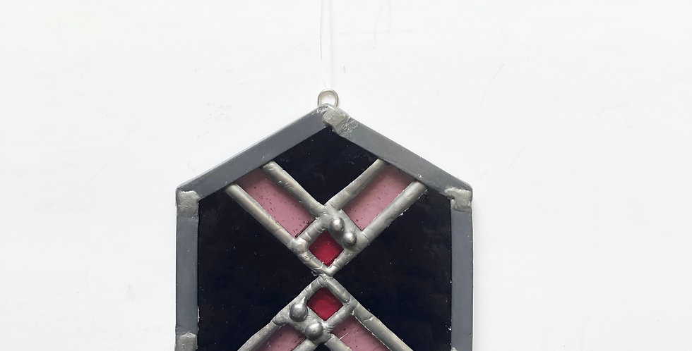 Stained glass geometric - detailed
