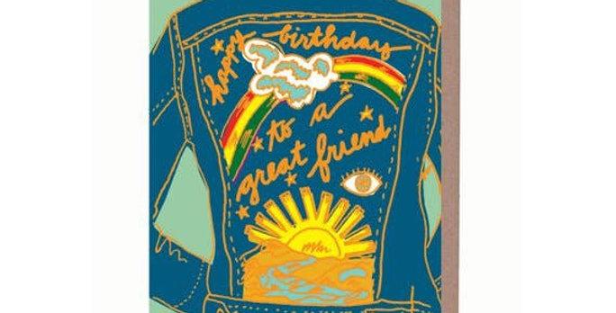 La Familia Green Friend Birthday card