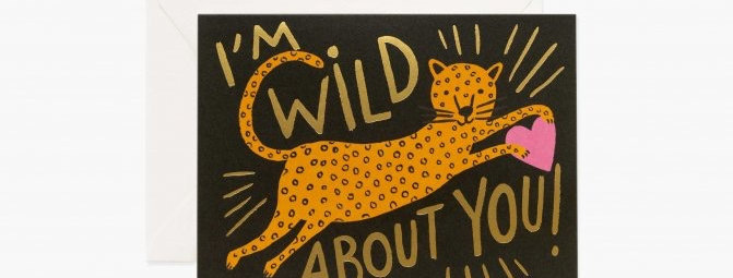 Rifle Paper Co Wild About You card