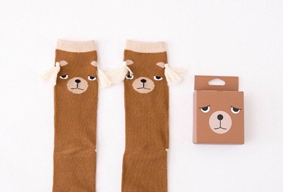 Mama Siesta Knee High Sock - Bear