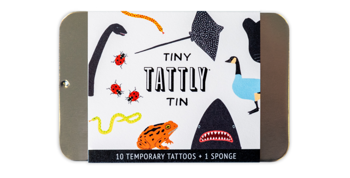 Tattly Tiny Animal temporary tattoo tin set