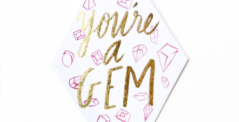 Thimblepress You're A Gem Gift Tag Set