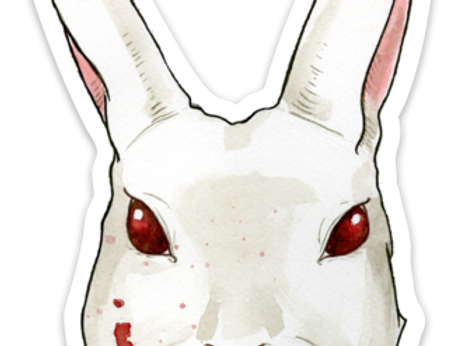 Cat People Press Killer Rabbit sticker