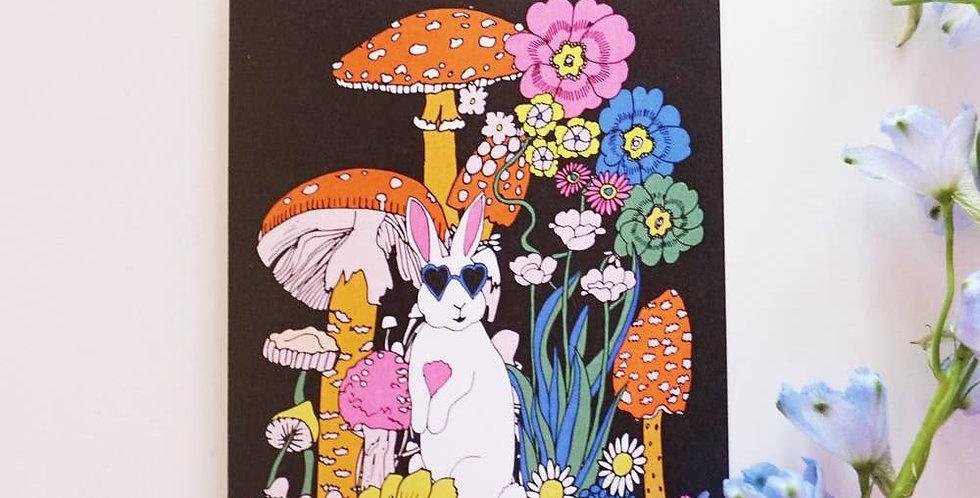 Ash + Chess Bunny card