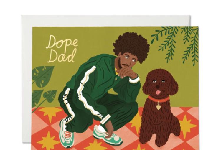 Red Cap Dope Dad card