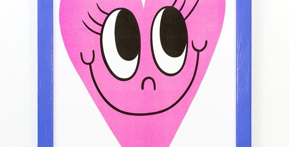 Beautiful Days heart print - pink