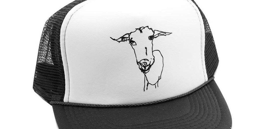 Big Picture Farm Goat trucker hat - black