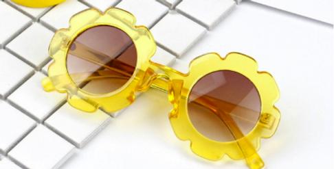 Rainbow Unicorn Birthday Suprise Sally Sunglasses - Yellow