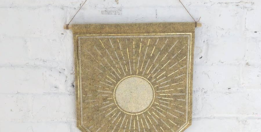 The Rise And Fall Sun Banner - Stone
