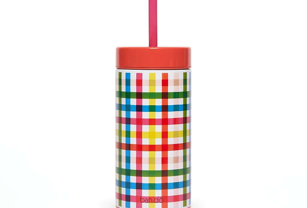 Bando stainless steel tumbler with straw
