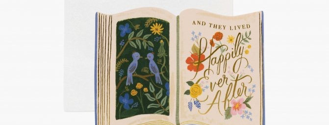 Rifle Paper Co Happily Ever After card