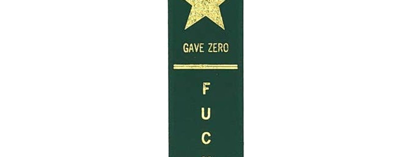 "Adulting FTW ""Gave Zero Fucks"" ribbon"