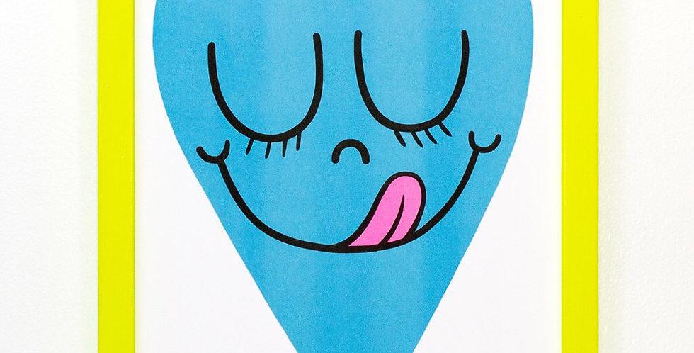 Beautiful Days heart print - blue