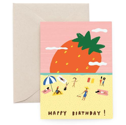 Carolyn Suzuki Strawberry Beach Birthday Card