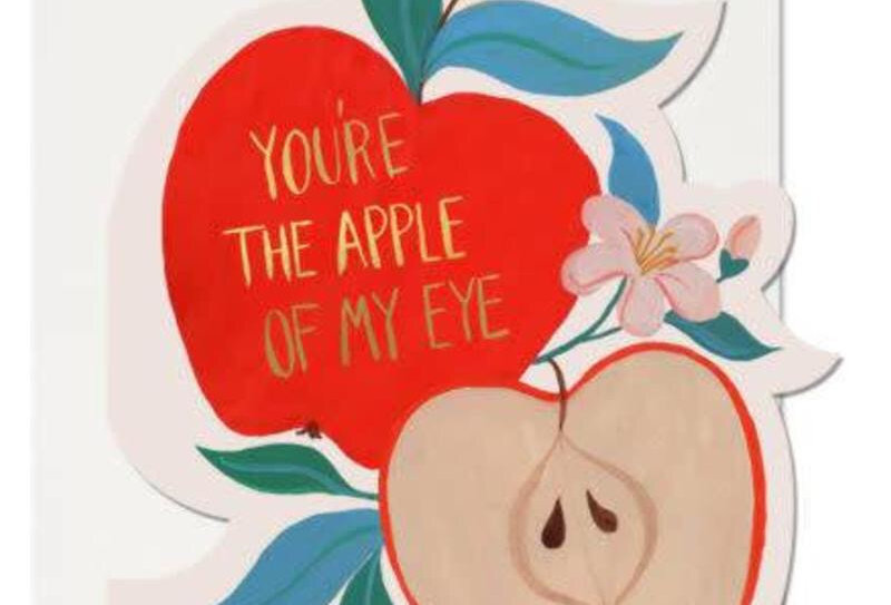 Red Cap Apple of my Eye card
