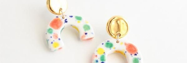 Quiet Clementine Half Circle earring