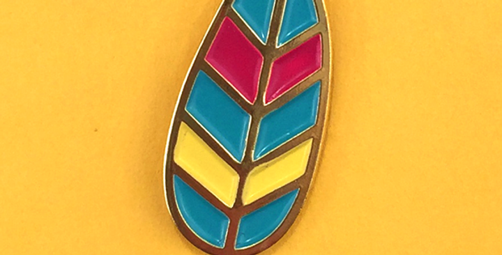 Allison Cole Feather Pin