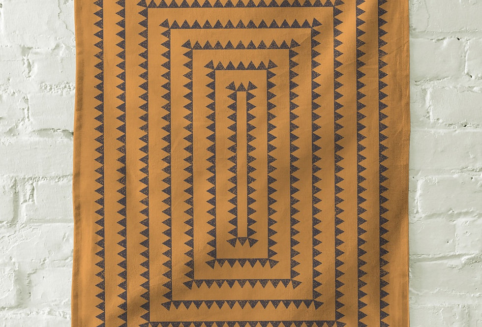 The Rise And Fall Triangles Towel - Rust