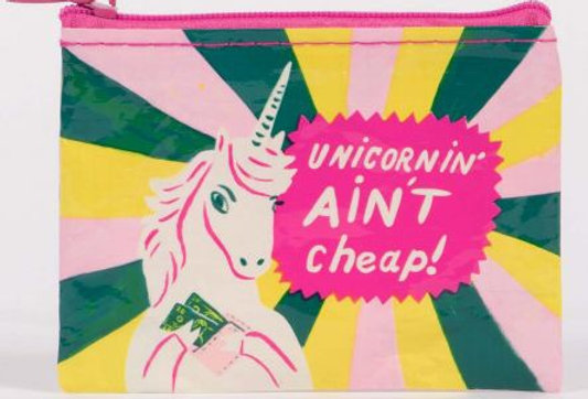 Blue Q Unicornin Ain't Cheap coin purse