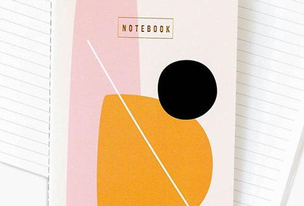 Esselle Stitched Orange/Black notebook