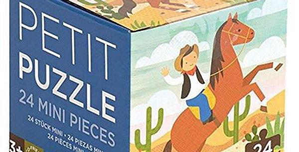 Petit Collage 24 pc puzzle - Cowboy