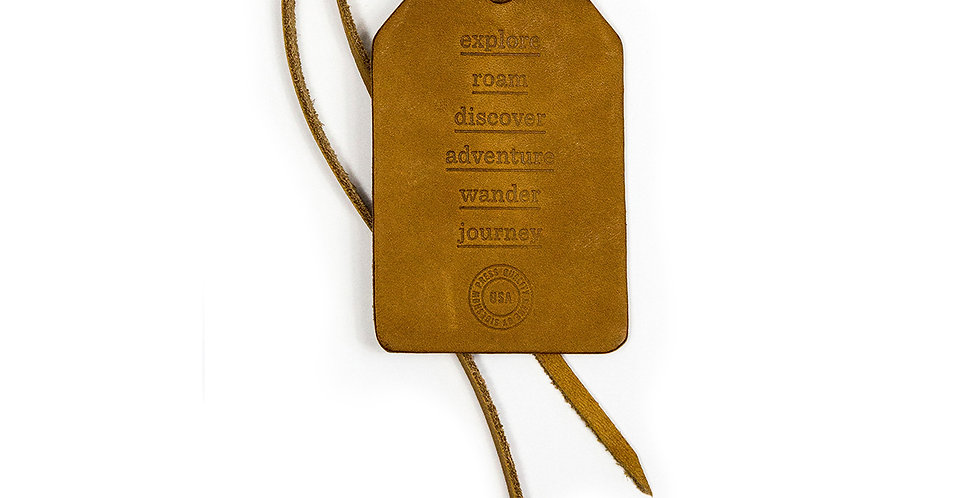 Sideshow Press Leather Luggage Tag