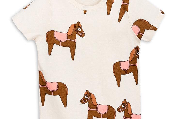 Mini Rodini pink horse kids tee