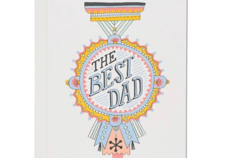 Red Cap The Best Dad card