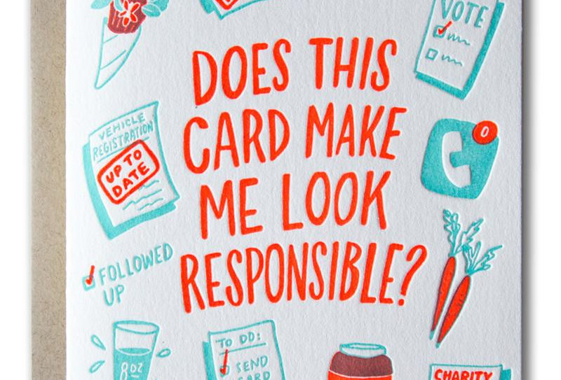 Ladyfingers Press Responsible card
