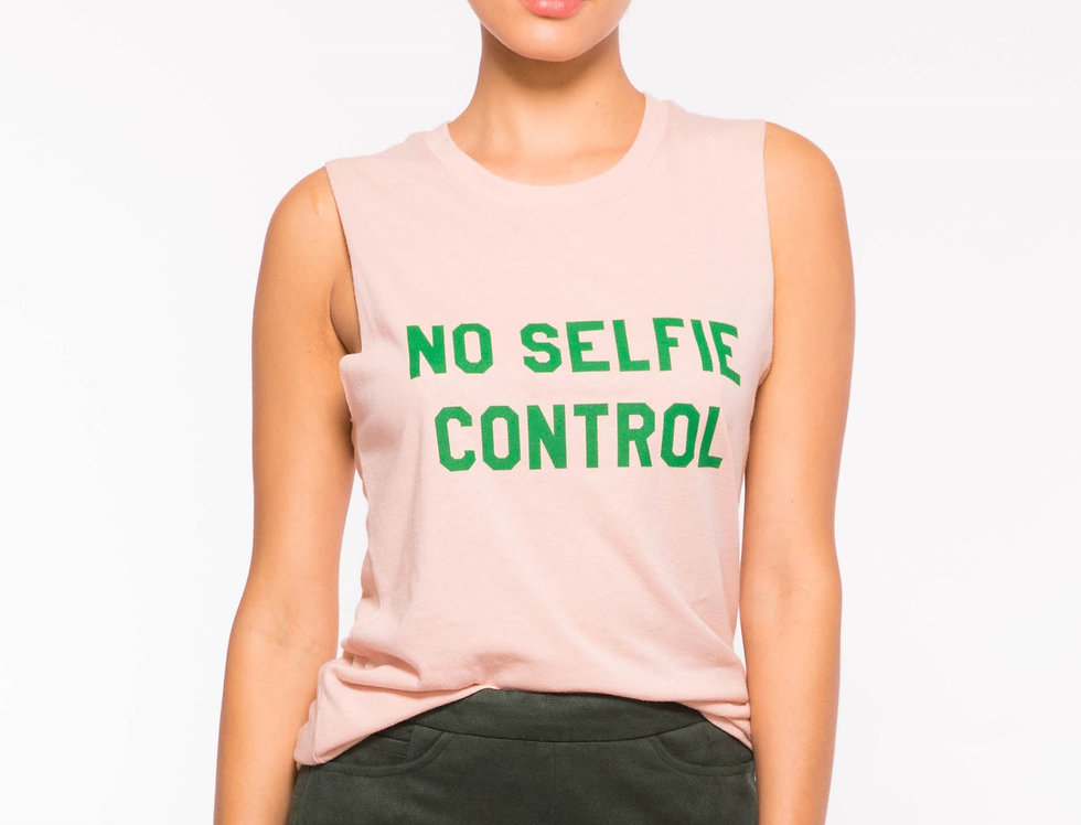 Sub-Urban Riot No Selfie Control muscle tee